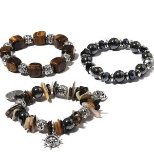 Jewelry - Set of 3 South African Tigers Eye Bracelets